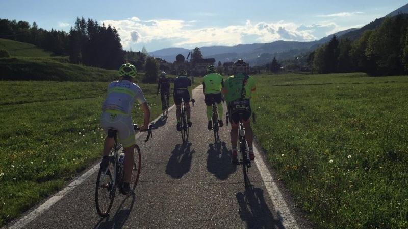 La pista ciclabile delle Dolomiti